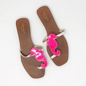 46c111f39 Kate Spade Merrie Hot Pink Seahorse Sandals 10